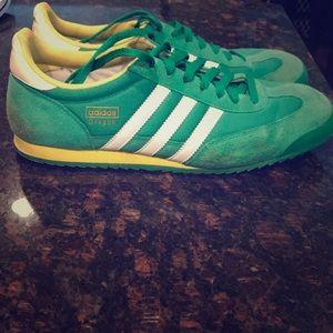 Men's green dragon Adidas shoes